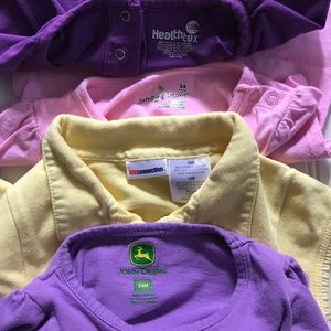 John Deere Shirts & Tops - Bundle of 4 Baby Girl's Size 18 & 24 months